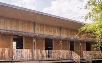 These bioclimatic student dorms use low-cost, sustainable materials