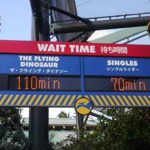 ユニバ待ち時間