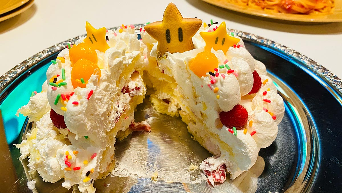 ピーチ姫のケーキ