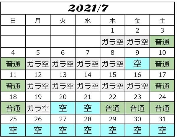 2021年7月USJ混雑予想