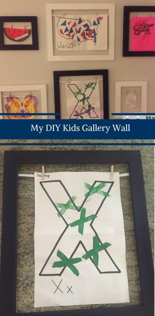 My DIY Kids Gallery Wall by Happy Family Blog