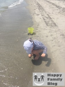 Searching for Sea Shells by Happy Family Blog