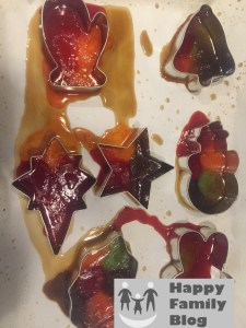 Edible Stained Glass by Happy Family Blog - Toddler Crafts almost done