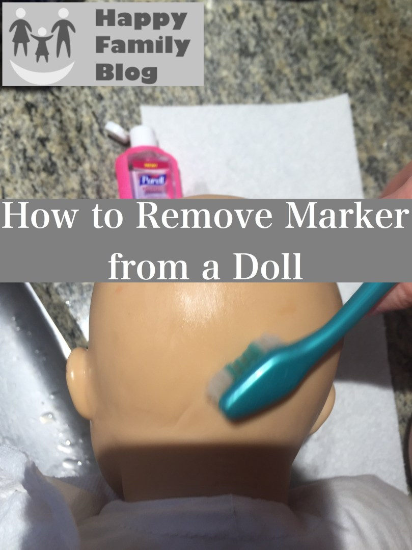 How to Remove Marker from a Doll; Happy Family Blog Cleaning Toys, Cleaning Dolls, Removing Marker