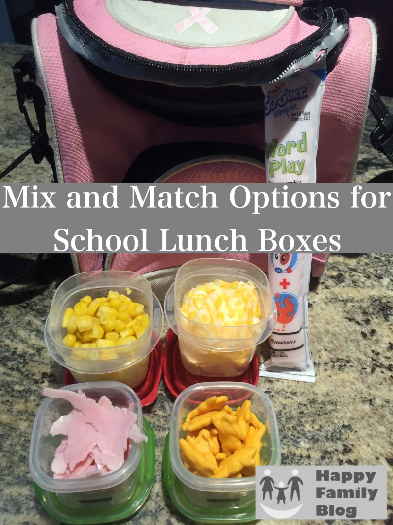 Mix and Match Options for School Lunch Boxes; Happy Family Blog