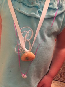 Toddler Crafts: Shell Necklaces by Happy Family Blog