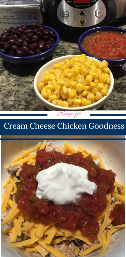 Recipe for Cream Cheese Crock Pot Chicken Goodness by Happy Family Blog
