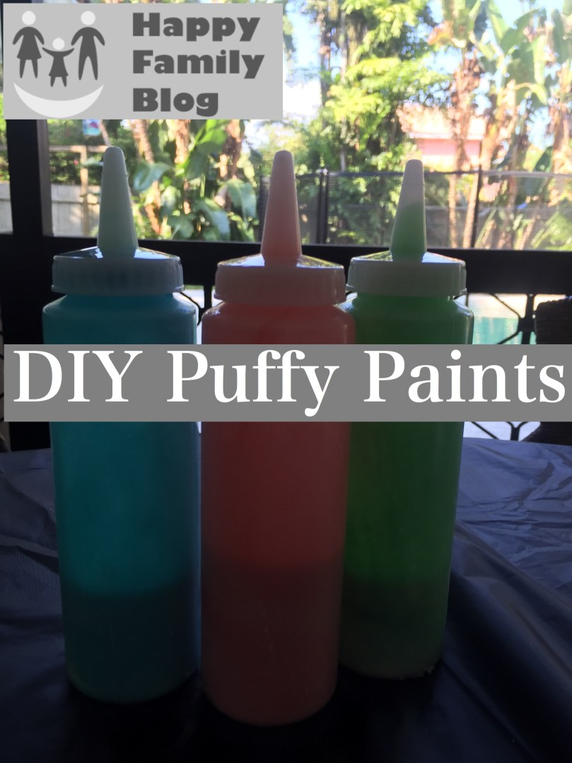 DIY Puffy Paints by Happy Family Blog
