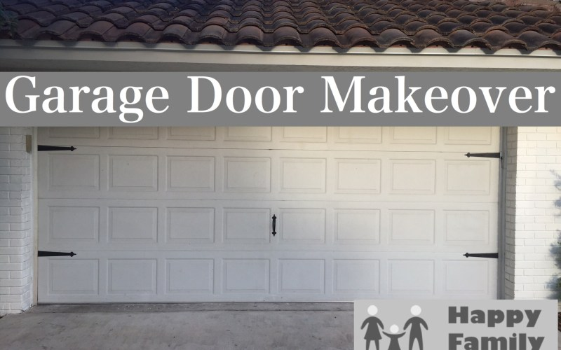 Garage Door Makeover for Less than $20