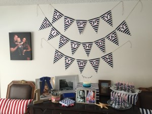 Nautical 1st Birthday by Happy Family Blog: Cake Table
