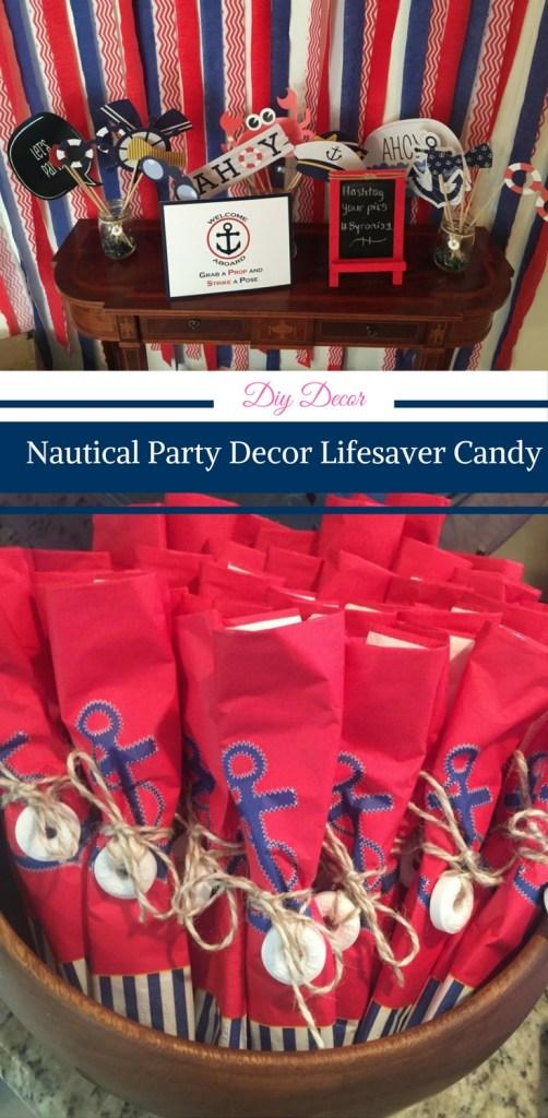 Nautical party decor, nautical party decorations, diy nautical party decorations, nautical theme party decor, nautical theme party decorating ideas