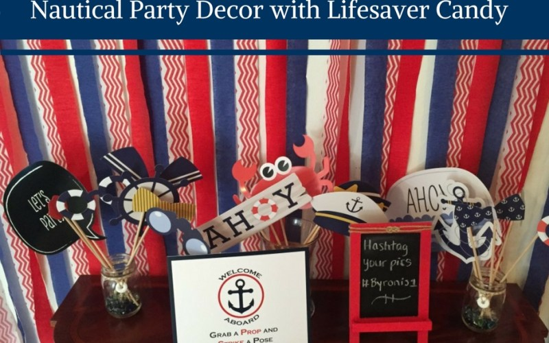 Nautical party decor, nautical party decorations, diy nautical party decorations, nautical theme party decor, nautical theme party decorating ideas