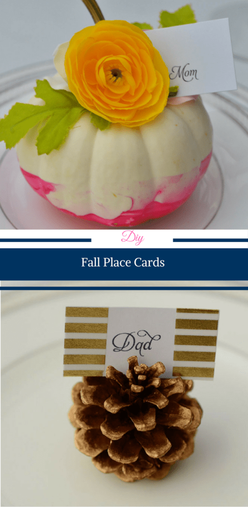 DIY Fall Place Cards by Happy Family Blog