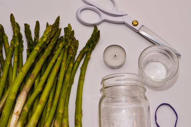 DIY Asparagus Candle for Meatless Monday with MorningStar by Happy Family Blog