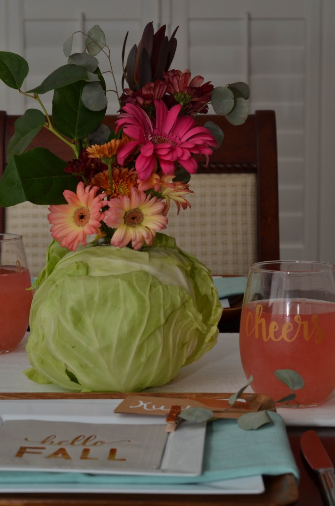 DIY Cabbage Centerpiece by Happy Family Blog