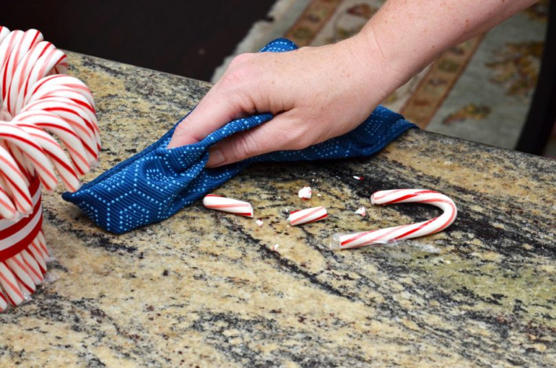 DIY Candy Cane Vase + Clean Up Advice by Happy Family Blog