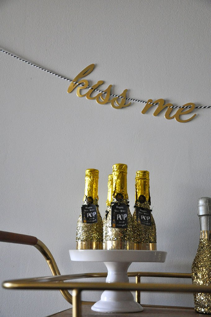 New Year's Eve Bar Cart by Happy Family Blog