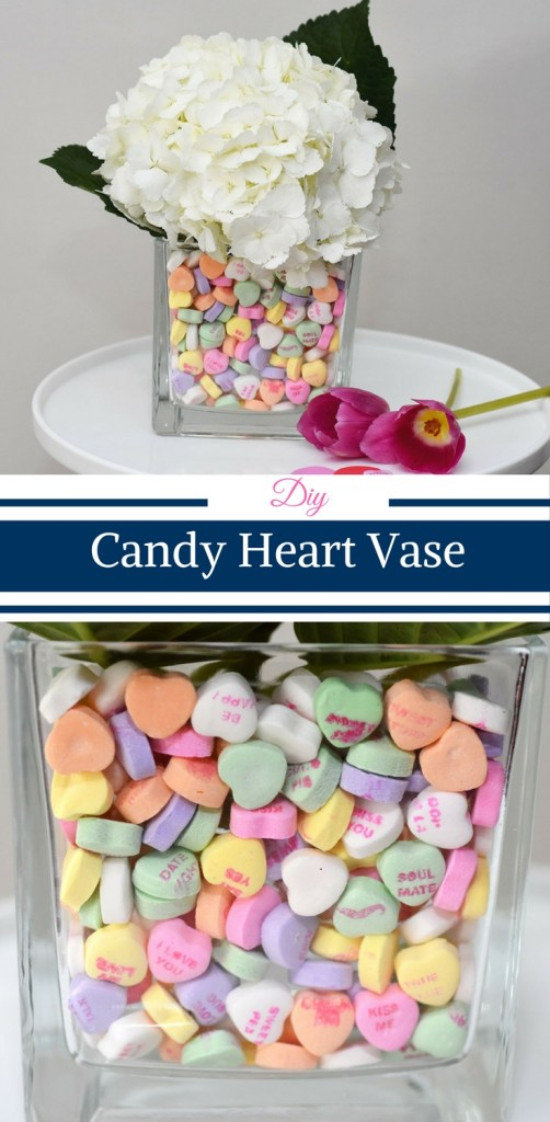 DIY Candy Heart Vase from Cristy from Happy Family Blog.
