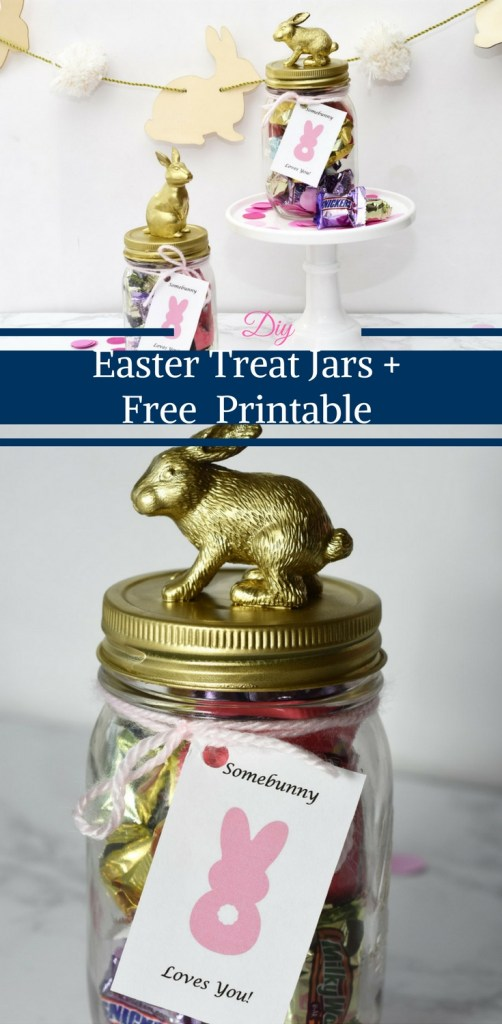 DIY Easter Treat Jars + Free Somebunny Loves You Printable by Happy Family Blog