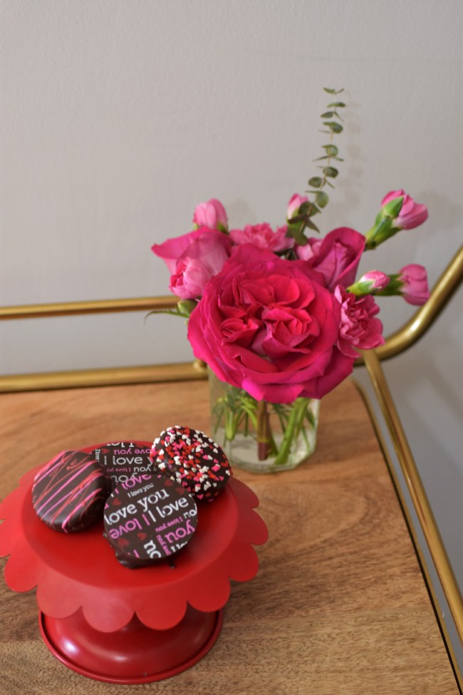 3 Steps to create a Valentine's Day Bar Cart by Happy Family Blog