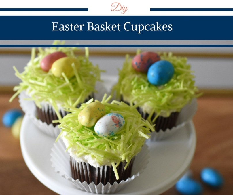 Easter Basket Cupcake by Happy Family Blog