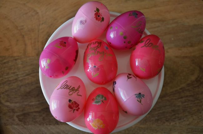 Easy Floral Easter Eggs by Happy Family Blog