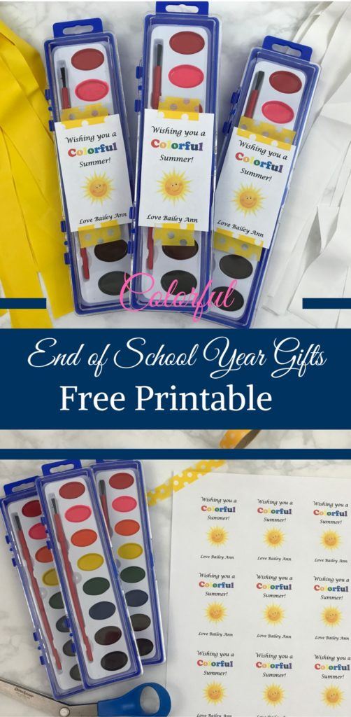 Colorful End of the School Year Gifts + Free Printable by Happy Family Blog
