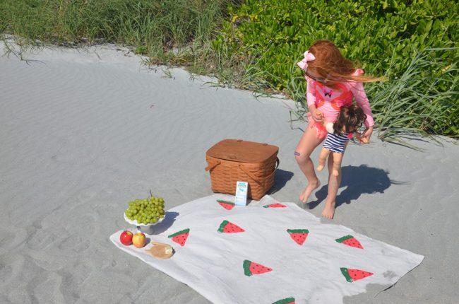 DIY Watermelon Picnic Blanket by Happy Family Blog