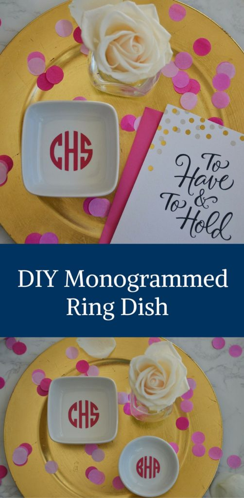 How to Make a DIY Monogrammed Ring Dish