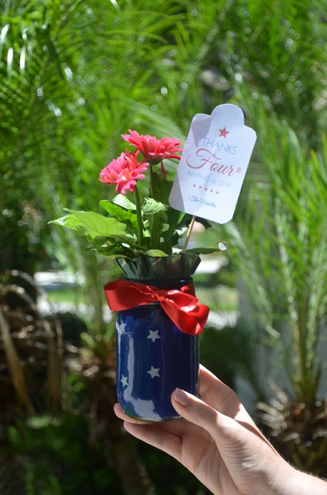 DIY Patriotic Centerpieces by Happy Family Blog