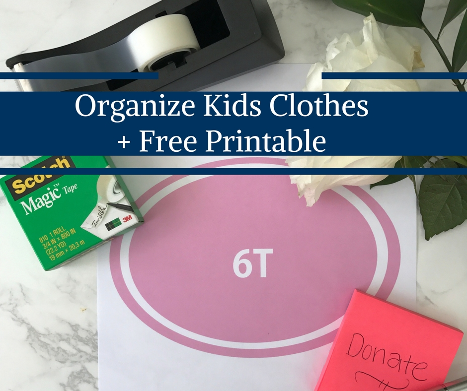 Organize Kids Clothes + Free Printables