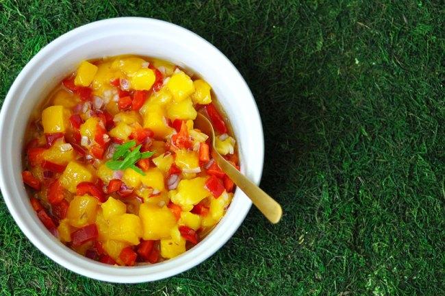 4 Ingredient Mango Salsa Recipe by Happy Family Blog