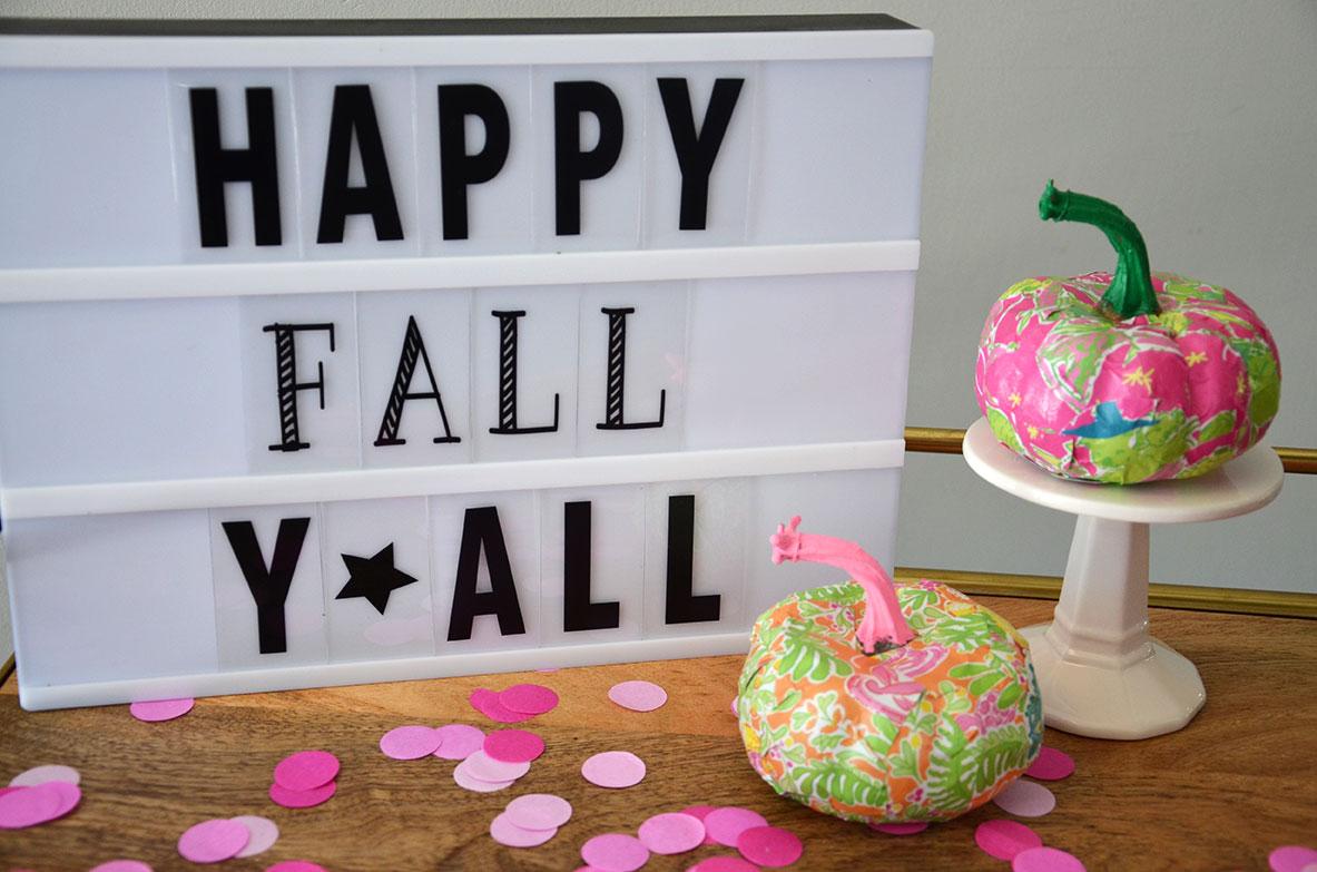 DIY Preppy Pumpkins by Happy Family Blog