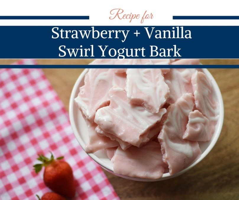 Strawberry and Vanilla Swirl Yogurt Bark by Happy Family Blog