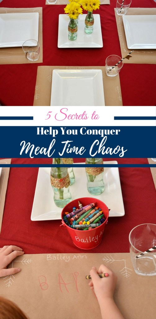 5 Secrets to Help You Conquer Meal Time Chaos by Happy Family Blog