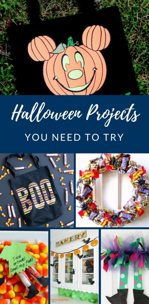 Halloween DIY, Halloween DIY Projects, Halloween Projects, Candy Wreath, Trick or Treat Bag, Witches candy