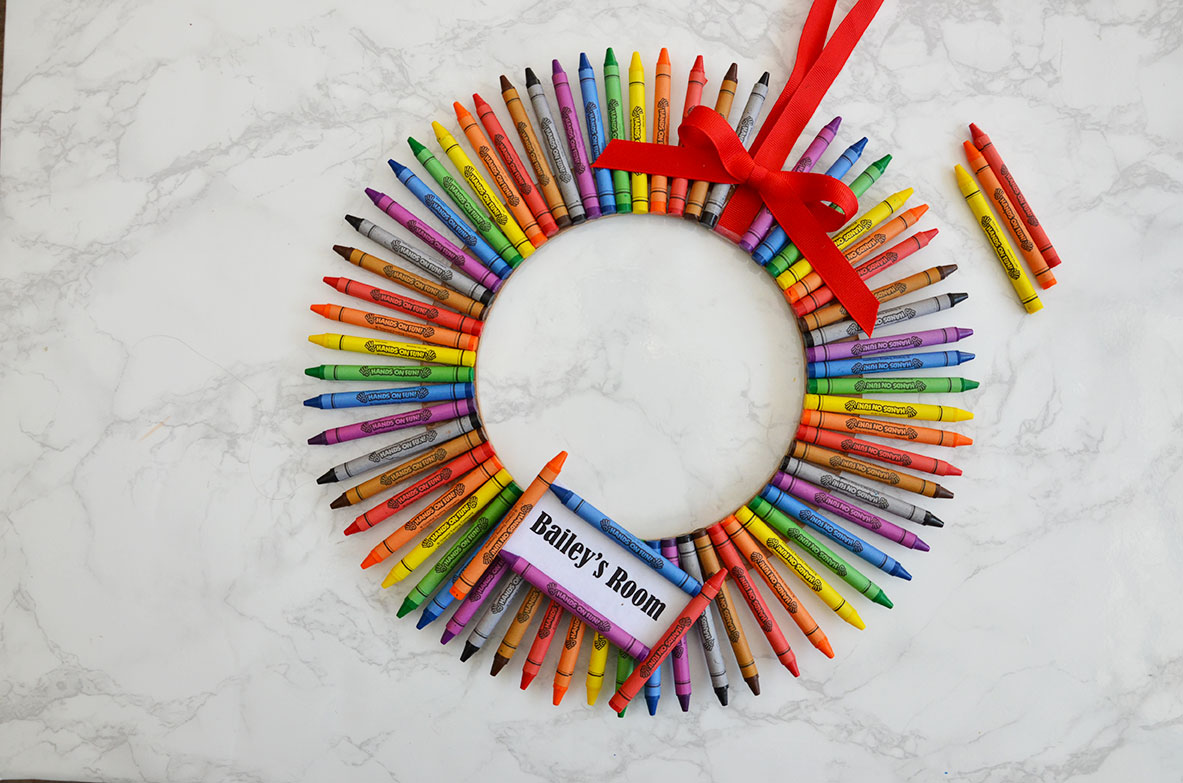 DIY Crayon Wreath by Happy Family Blog