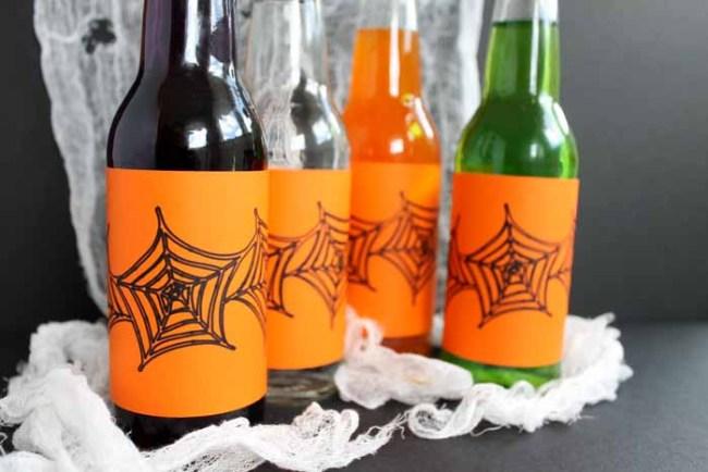 Halloween Bottle Labels, halloween drinks