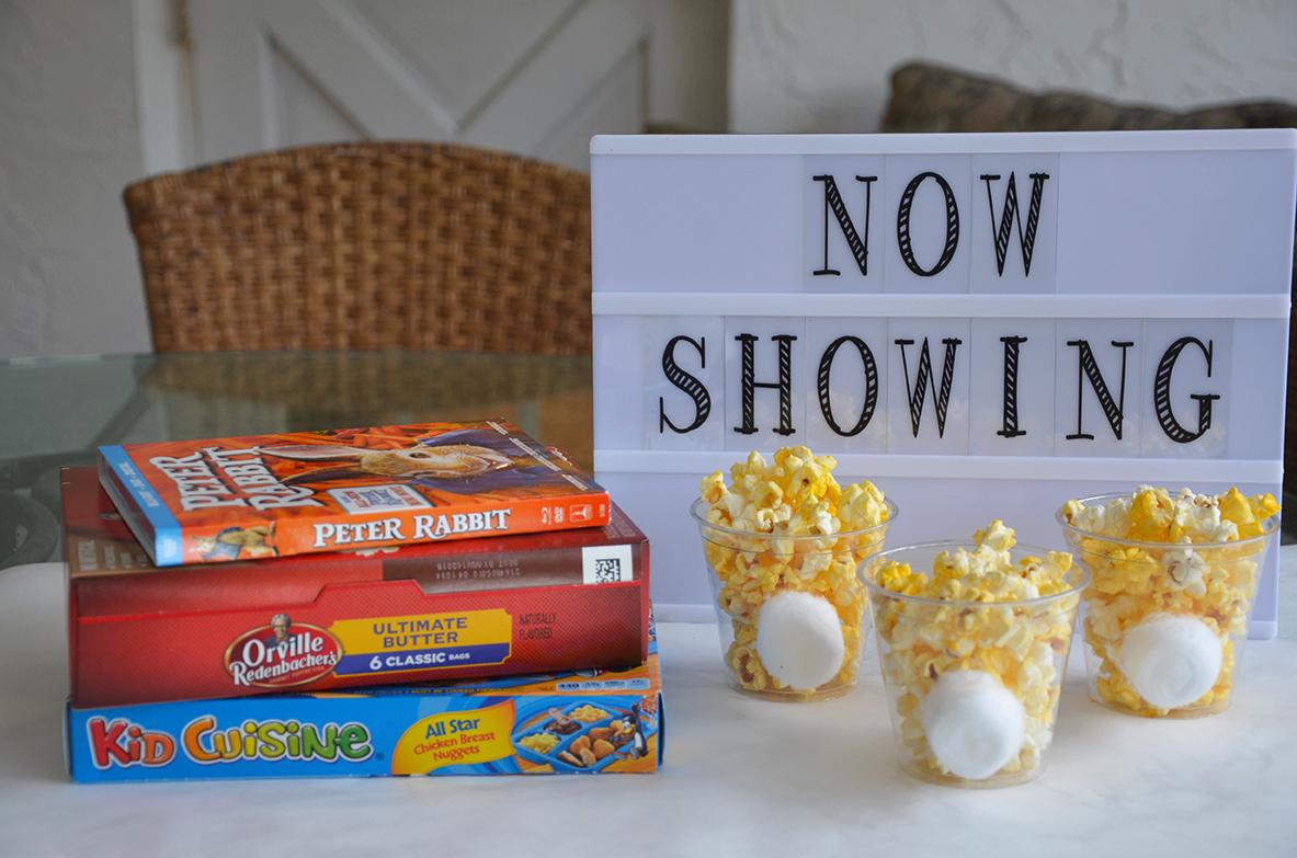 movie night bunny cups