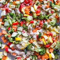Ranch Chicken Recipe: Sheet Pan Chicken and Vegetables
