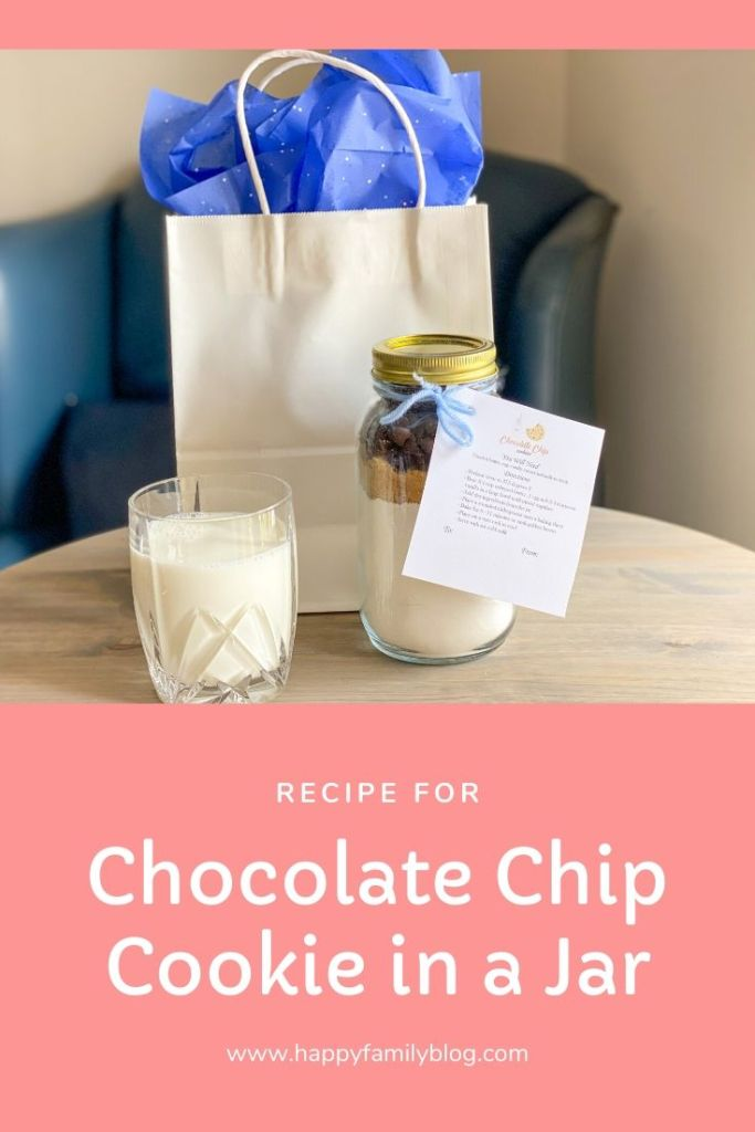 chocolate chip cookies in a jar, chocolate chip cookie recipe
