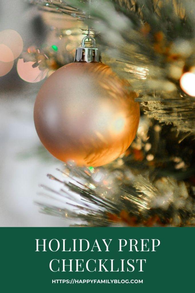 Holiday Prep Checklist