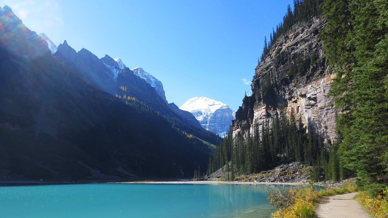 magestic views in beautiful Fairmont Chateau Lake Louise Alberta Canada