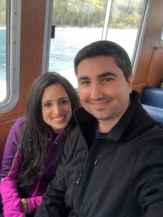 inside the 43 passenger Lake Minnewanka cruise
