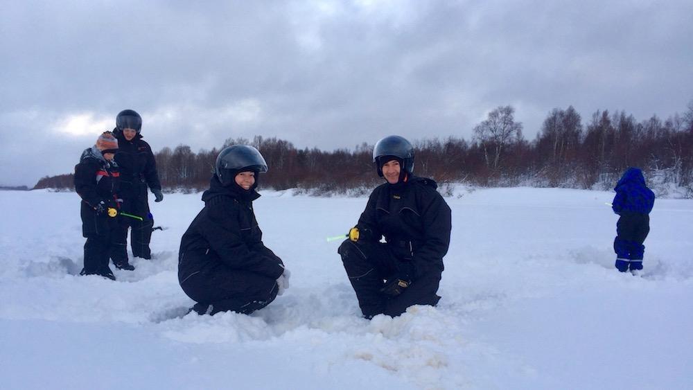 Happy-Fox-Fun-in-Winter-ice-fishing-family