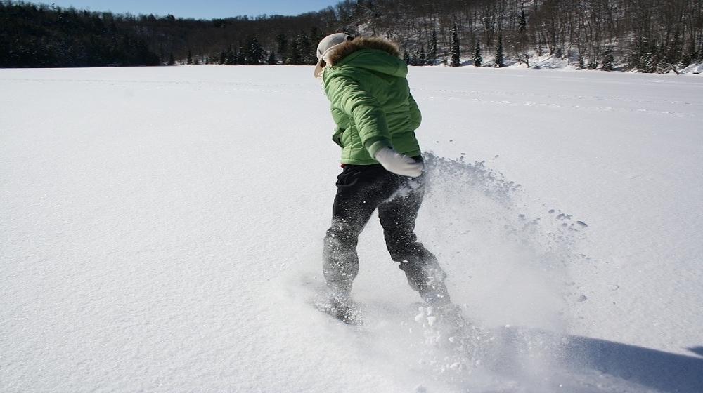 Happy-Fox-Winter-Fun-snowshoeing-girl