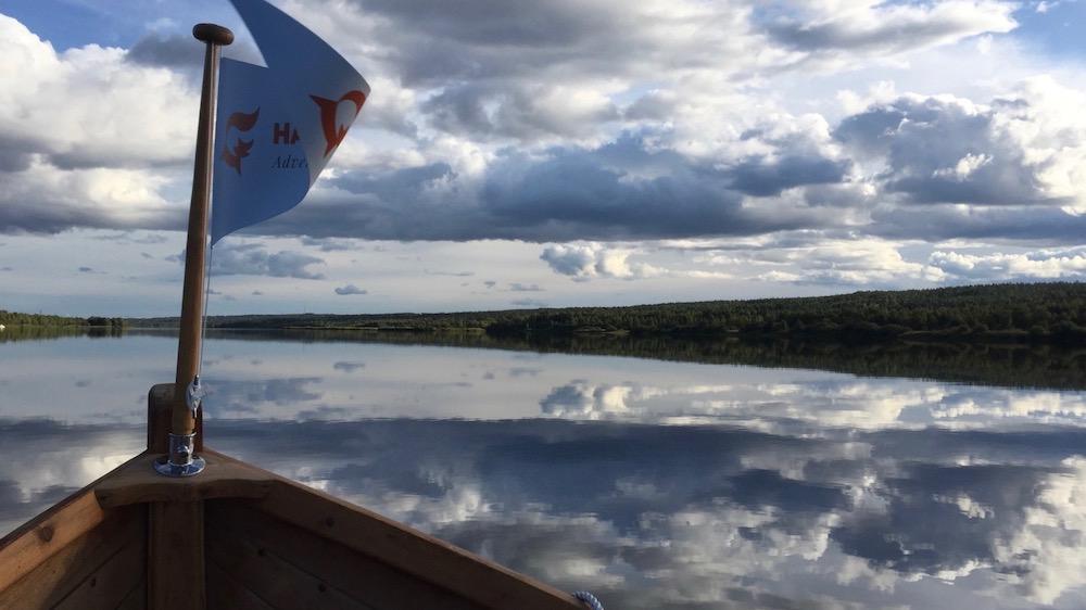 Happy-Fox-Arctic-Boat-Trip-to-the-Ounasjoki-River-and-kemijoki-River-happy-Fox-flag