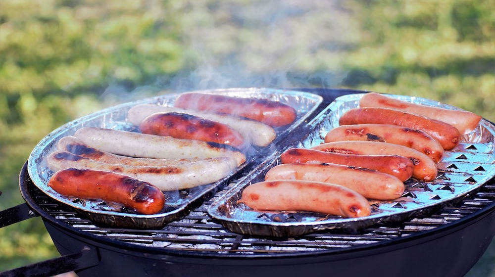 Grill Roasted Food Sausage Meat Meal Picnic