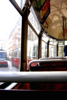 Inside a Tram in Vienna