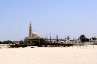 Mosque and Burj Khalifa, Dubai
